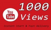 1000 Or 1K Or 1 000 YouTube Video Traffic with choice Extra views service 1000 2000 3000 5000 10000 15000 20000 25000 40000 and 50 000 50k 100 000 100k 200K 300K 500K 1 Million for $6