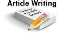 كتابة 4 مقالات في اي مجال باللغة العربية او الانجليزية.