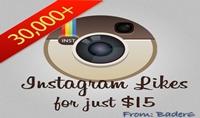 اضافة 30000 الف لايك سريع الى 30 صورة او اقل على حسب اختيارك