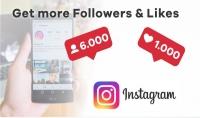 زيادة المتابعين على انستقرام إلى 6000 متابع