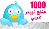 اضافة 1000 متابع عربي حقيقي ومتفاعل على تويتر بـ