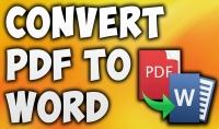 بتحويل الملفات من صيغة الpdf الى صيغة word بدقة عالية