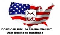 قائمة بريد امريكية تحتوي علي 100 الف عنوان بريد الكتروني امريكي لاغراض التسويق الالكتروني