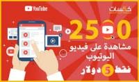 إضافة 2500 مشاهدات على اليوتيوب حقيقية ومضمونة 100% فقط ب5$ سارعو