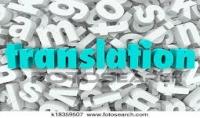 Translation of texts