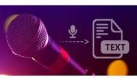 تفريغ ملفات الصوت والفيدو وتحويله لكتابه  عربي او انجليزي