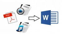 تحويل الصوتيات اوpdf او ملفات الاسكانر او المكتوبة بخط اليد الى ملفات word