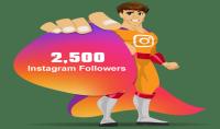 Instagram هناك 2500 متابعين