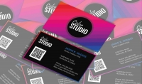 تصميم كارت شخصي business card باحترافية اضافة كود qr