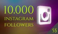 10K الاف متابع آنستغرام و هدية 500 لايك مقابل 5 دولار فقط