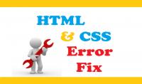 اصلاح جميع مشاكل HTML CSS JAVASCRIPT