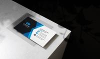 تصميم بطاقة العمل business card بوجه واحد