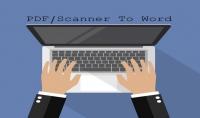 كتابة ملف Word من ملف Pdf او من صفحات تصوير Scanner