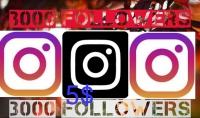 إضافة 3000 Followers لحساب Instagram الخاص بك 5$