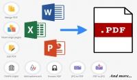 تحويل الملفات إلى PDF  والتعديل على ملفات PDF لعدد 50 صفحة
