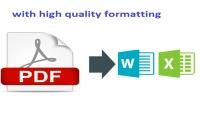 تفريغ اى ملف PDF وتحويله الى ملف Word او Excel