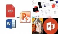تحويل بحوث ومواضيع PDF و Word الى PowerPoint بشكل إحترافي