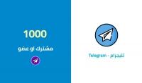 تزويد 1000مشترك لجروب او صفحة فى التليجرام فقط ب 5$
