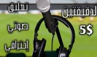 تعليق صوتي إحترافي باللغتين العربية والإنجليزية دقيقتين 5 دولار