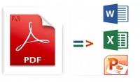 تحويل ملف pdf الى ورد او اكسل او بوربونت
