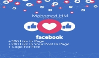 سأقوم بتنشيط صفحتك علي الفيس بوك  هدية لوجو رائع لصفحتك