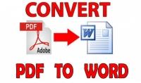 تحويل ملف pdf إلى ورد