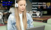 تفريغ صوتي للفيديوهات والتسجيلات بكل احترافية 60 دقيقة مقابل 5$