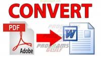 تحويل ملفات pdf to word excel image or any