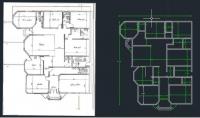 اعاده رسم وتصميم المخططات الهندسيه للفلل والبيوت والواجهات
