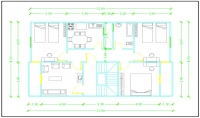 تخطيط معمارى نموذجى وإقتراح إنشائى