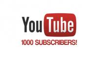 1000 مشترك على حسابك يوتوب