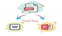 تحويل ملفات pdf الى ملفات وورد أو باوربوينت