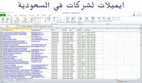 ملف اكسل ل 2000 ايميل لشركات فى السعودية مرتبة ومصنفة