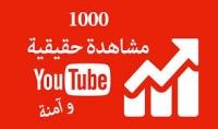1000مشاهدة حقيقية لفديو على قناتك