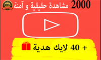 احصل على 2000 مشاهدة لأحد فيديوهاتك على قناتك في اليوتيوب بـــ 5 دولار