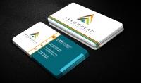 تصميم بطاقات أعمال حترافية من وجهين  business card