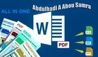 كتابة WORD وتحويل ملفات PDF   إحترافية وإتقان