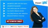 SSD Web Hosting Unlimited with Cpanel SSL Backup Malware