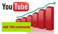نساعدك فى تصدر نتائج البحث بإضافة 100 تعليق يوتيوب