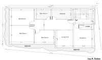 عمل التقسيمات الداخلية للمباني السكنية باستخدام الاوتوكاد