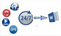 تحويل ملفات صوتية أو فيديو أو صور إلى ملف ورد