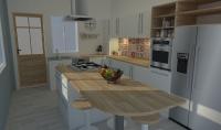 ساقوم بتصميم مطبخك بطريقة احترافية 5$ لكل 20م sup2;