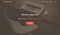 تصميم صفحة ويب متجاوبة مع جميع الأجهزة بلغة HTML و CSS صفحة واحدة