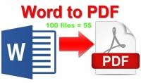 تحويل 100 ملف بصيغة word الى pdf فقط بخمس دولارات