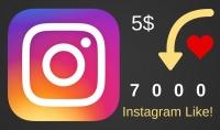 اعجابات لحسابك على الانستغرام مقابل 5 دولارات