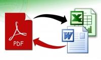تحويل الملفات من PDF الى ملفات Word او Excel باحترافية
