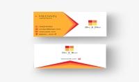 بطاقة اعمال  - business card - شخصية و مميزة   باركود