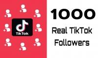 1000 متابع حقيقي   لحساب تيك توك