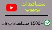 1500 مشاهدة على اليوتيوب كل مشاهد يشاهد الفيديو اكثر من دقيقية للوصول الى 4000 ساعة