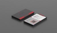 تصميم بطاقة عمل مع QR code